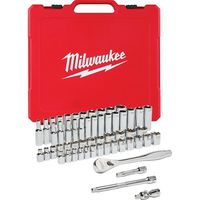 Milwaukee Tool - 48-22-9008 SAE / Metric Ratchet and Socket Mechanics Tool Set (56-Piece)